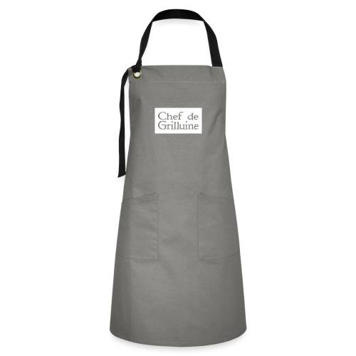 Chef de Grilluine - der Chef am Grill - Kontrastschürze