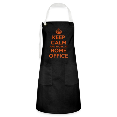 KEEP CALM and work at HOME OFFICE - Kontrastschürze