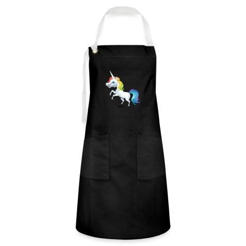 Regenboog eenhoorn - Contrasterende schort