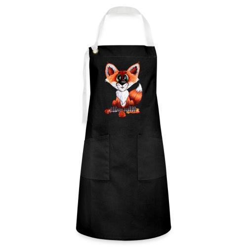 llwynogyn - a little red fox - Kontrastforklæde