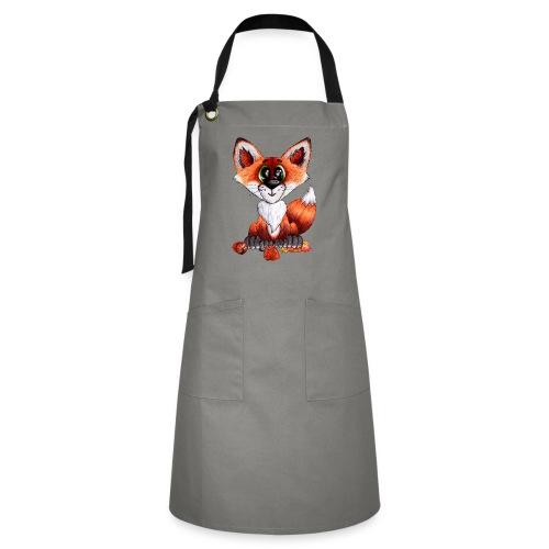 llwynogyn - a little red fox - Kontrastivärinen esiliina