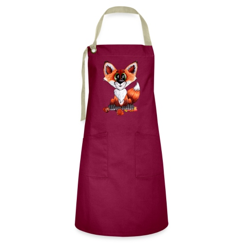 llwynogyn - a little red fox - Artisan Apron
