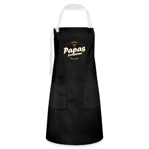 Papas Barbecue ist das Beste (Premium Shirt) - Kontrastschürze