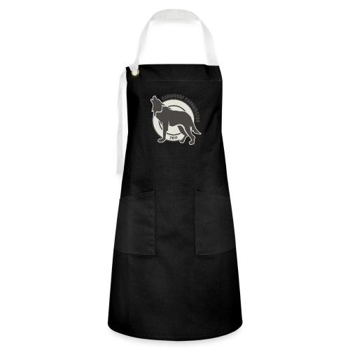 Fleischfresser - Grillshirt - Der mit dem Wolf heu - Kontrastschürze
