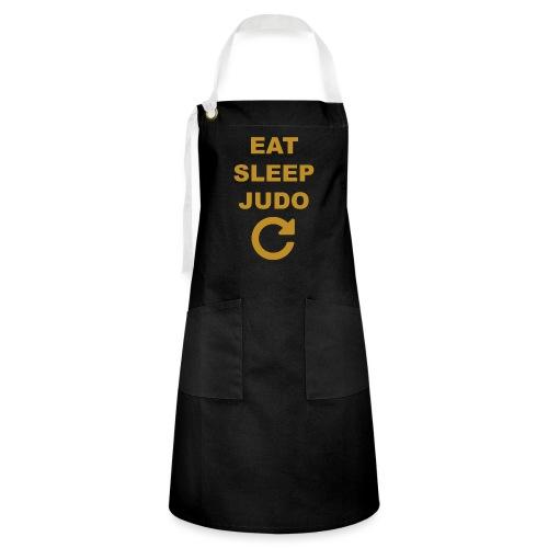 Eat sleep Judo repeat - Fartuch z kontrastowymi paskami