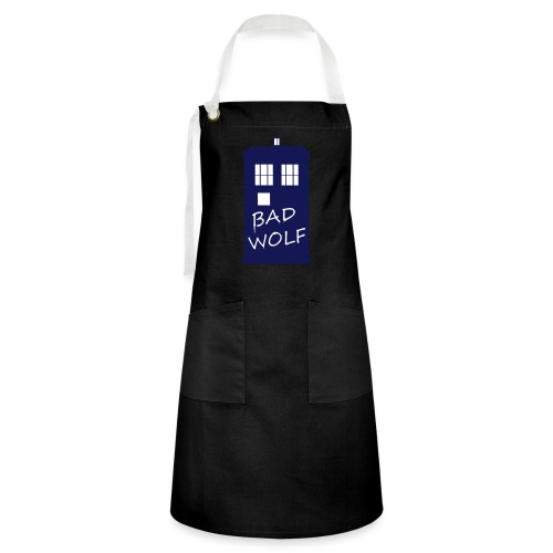 Bad Wolf Tardis - Tablier contrasté
