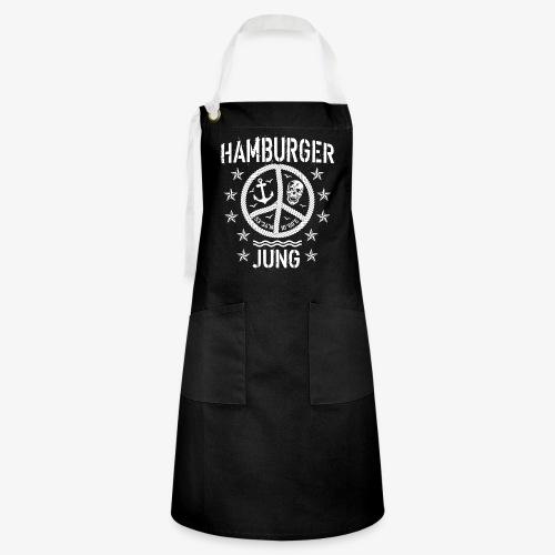 96 Hamburger Jung Peace Friedenszeichen Seil - Kontrastschürze