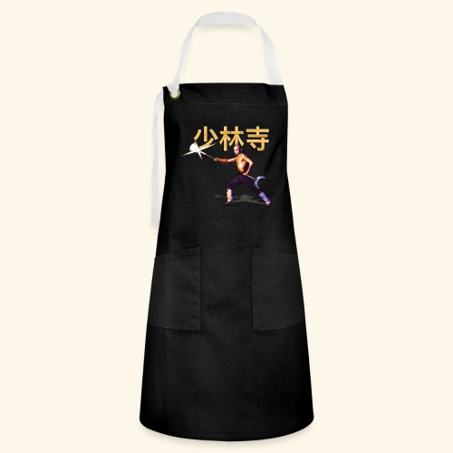 Gordon Liu som San Te - Warrior Monk - Kontrastforklæde