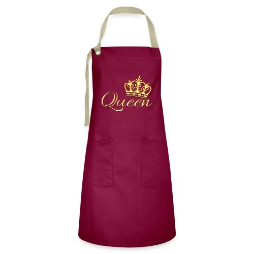 Queen Or -by- T-shirt chic et choc - Tablier contrasté