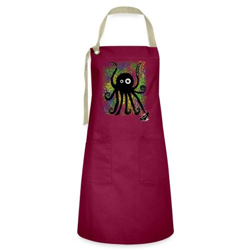 Sweet Octopus by BlackenedMoonArts, with logo - Kontrastforklæde
