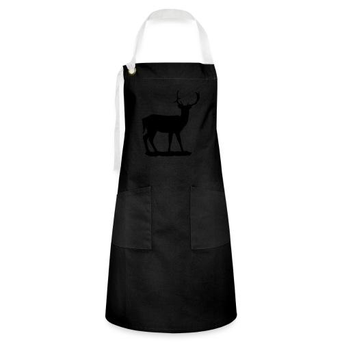 Silueta ciervo en negro - Delantal Artesanal