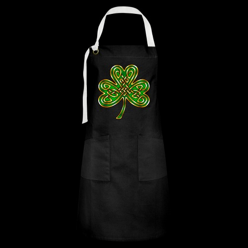Celtic Knotwork Shamrock - Artisan Apron