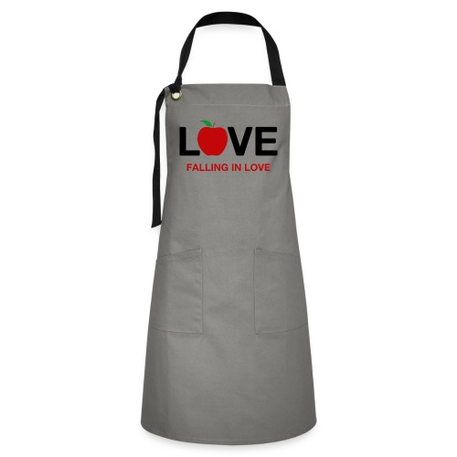 Falling in Love - Black - Artisan Apron