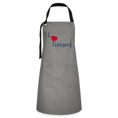 I Love Finland - Kontrastivärinen esiliina