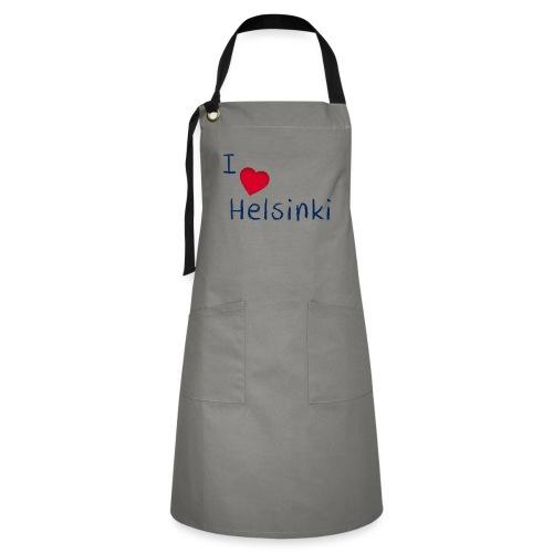 I Love Helsinki - Kontrastivärinen esiliina