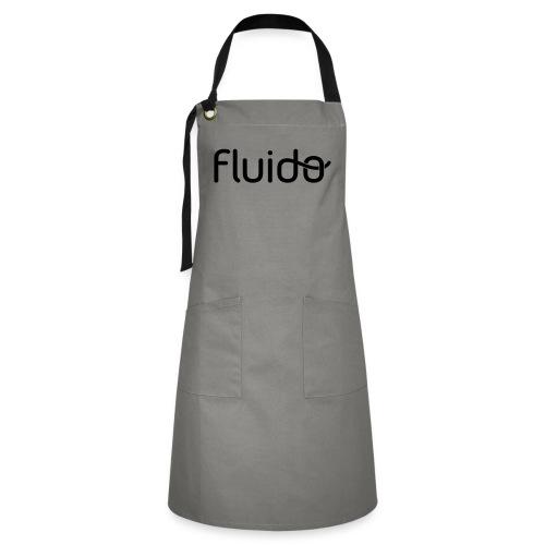 fluidologo_musta - Kontrastivärinen esiliina