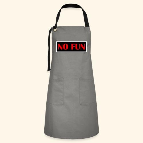 no fun - Kontrastforklæde