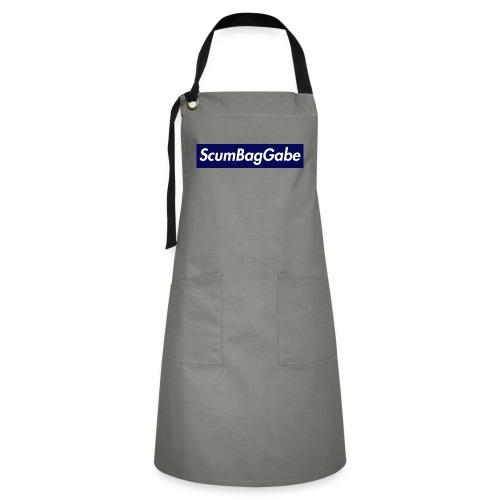 ScumBagGabe Blue XL Logo - Artisan Apron