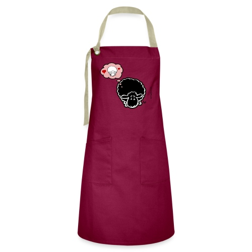 Thinking of Ewe (black) - Artisan Apron