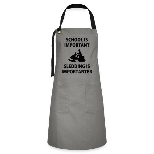 School - Kontrastförkläde