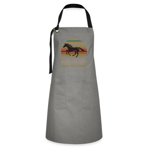 Wer ein Pferd reitet borgt sich Freiheit | Spruch - Kontrastschürze