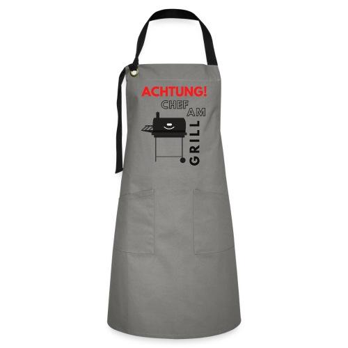Chef am Grill - Kontrastschürze
