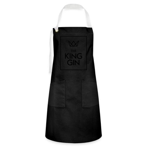 The King Gin Logo schwarz RGB Rahmen - Kontrastschürze