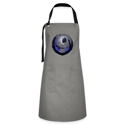 Rigormortiz Metallic Blue-Black Design - Artisan Apron