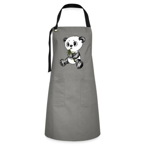 Panda bjørn farvet scribblesirii - Kontrastforklæde