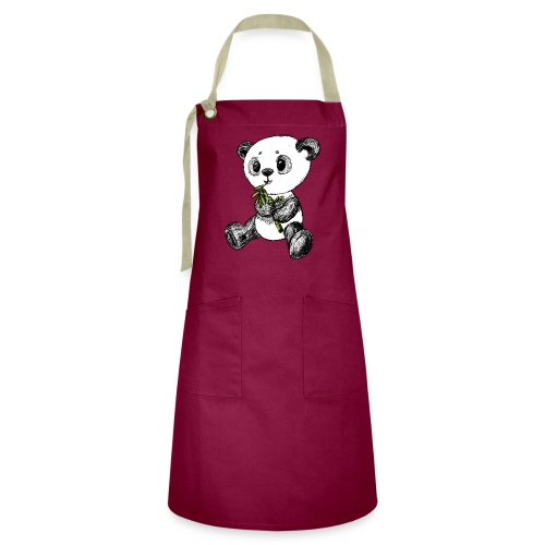 Panda bear colored scribblesirii - Artisan Apron