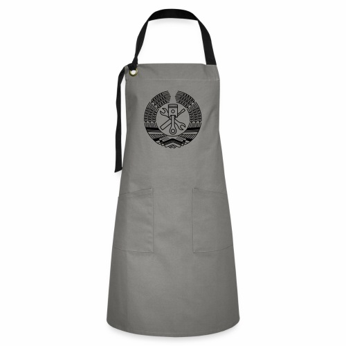 DDR Tuning Coat of Arms 1c (+ Your Text) - Artisan Apron