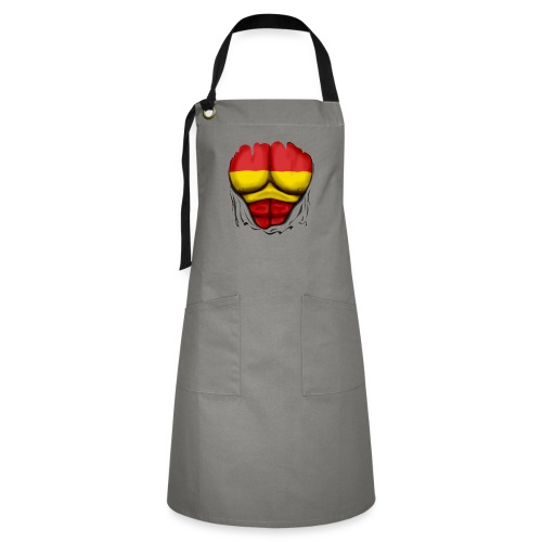 España Flag Ripped Muscles six pack chest t-shirt - Artisan Apron