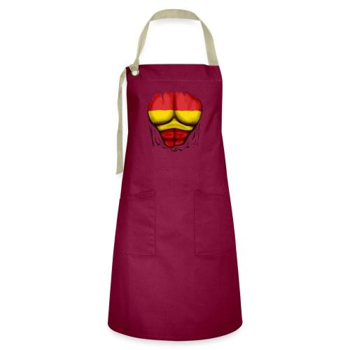 España Flag Ripped Muscles six pack chest t-shirt - Artisan Apron