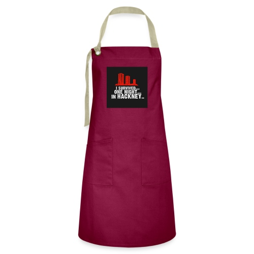 i survived one night in hackney badge - Artisan Apron