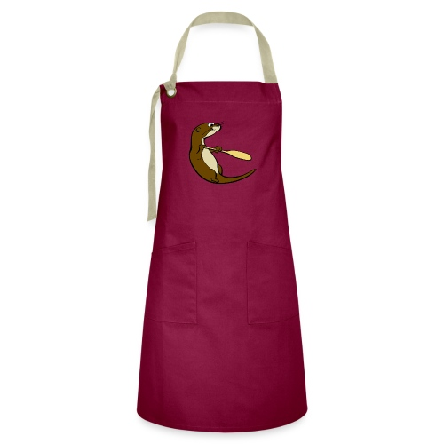 Classic Song of the Paddle otter logo - Artisan Apron