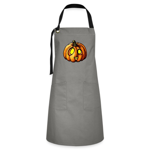 Pumpkin Halloween watercolor scribblesirii - Artisan Apron