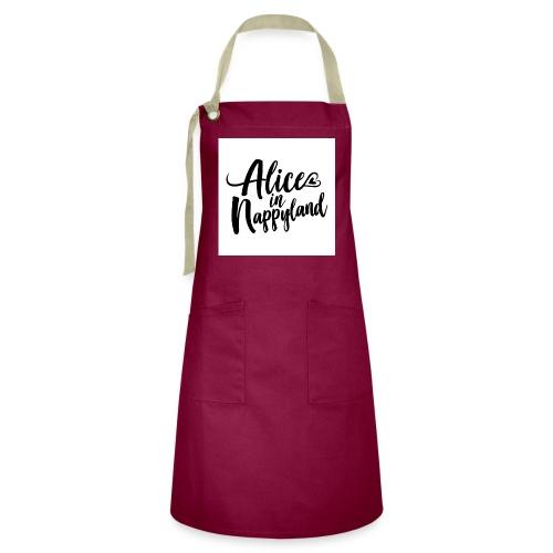 Alice in Nappyland Typography Black 1080 1 - Artisan Apron