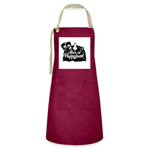 Alice in Nappyland TypographyWhite with background - Artisan Apron