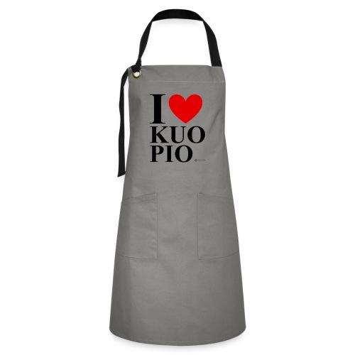 I LOVE KUOPIO ORIGINAL (musta) - Kontrastivärinen esiliina