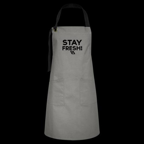 STAY FRESH! T-paita - Kontrastivärinen esiliina