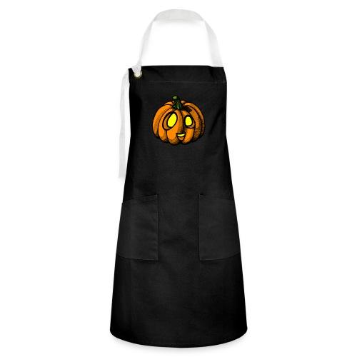 Pumpkin Halloween scribblesirii - Kontrastivärinen esiliina