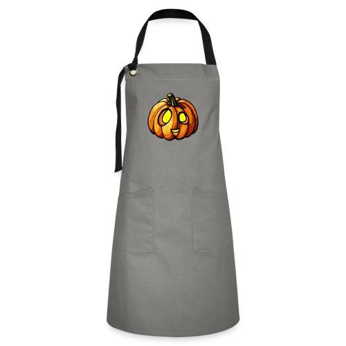 Pumpkin Halloween watercolor scribblesirii - Kontrastivärinen esiliina