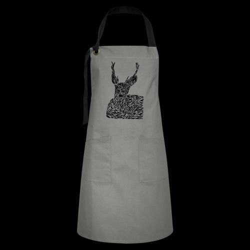 deer black and white - Kontrastivärinen esiliina