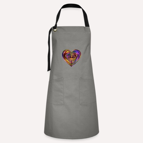 Colorful Love Heart Print T-shirts And Apparel - Artisan Apron