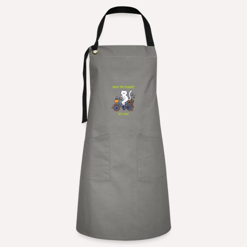Caring About Climate? Save The Planet Go Bike! - Artisan Apron