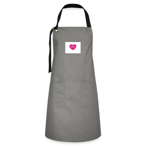 Spread shirt hjärta love - Kontrastförkläde