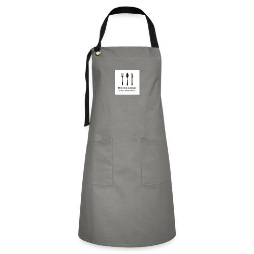 Keukenschort `Het eten is klaar` - Contrasterende schort