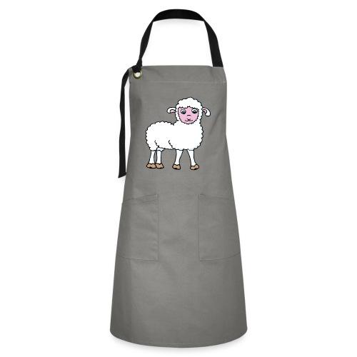 Minos le petit agneau - Tablier contrasté