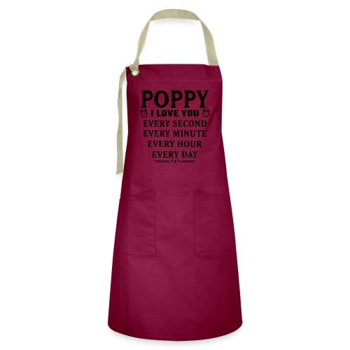 I Love You Poppy - Artisan Apron