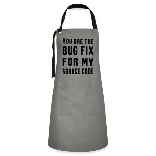 Programmierer Beziehung Liebe Source Code Spruch - Kontrastschürze